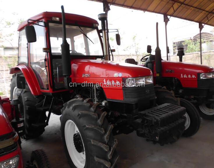 4x4 85Hp 100HP 4WD hydraulic farm tractor with front end loader and backhoe