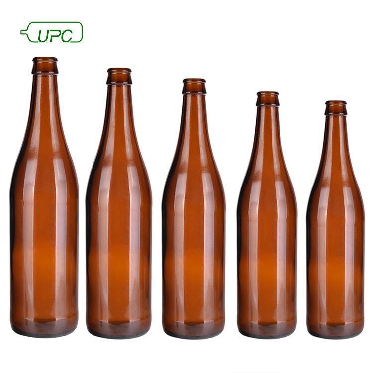 Conception personnalisée 500ml Ambre verre bouteille de bière bouteille en verre fabrication
