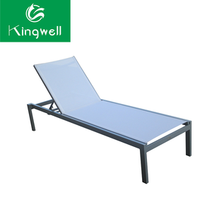 Simple style used hotel pool furniture of rattan sun lounger
