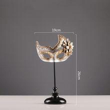 Европейская ретро креативная древняя серебряная маска статуэтки украшения ручной работы изделия из полимера подарки украшение дома антик...(Китай)