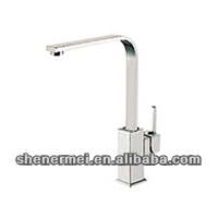 square handle kitchen elbow tap