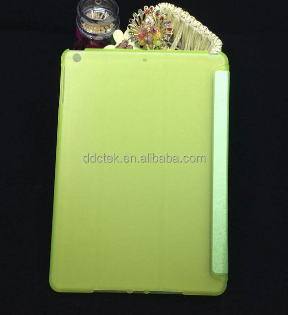 Popular Green PC PU leather cover for ipad case for apple ipad air