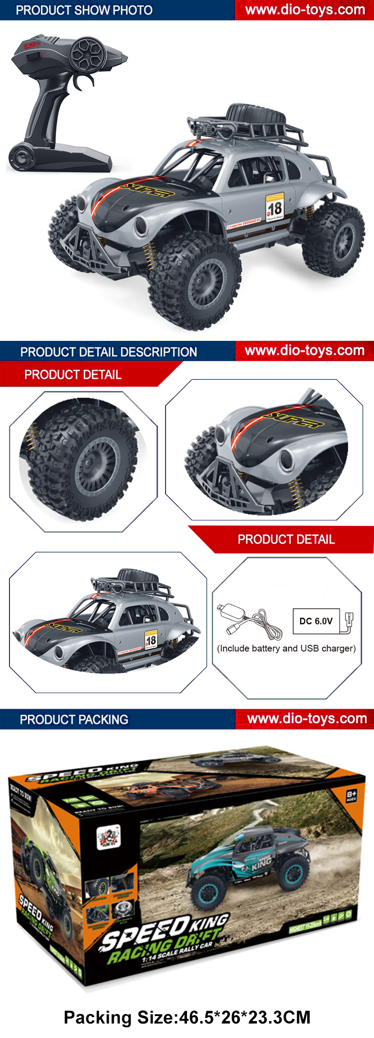 new item electronic 1/14 scale 2.4G high speed cars rc toy