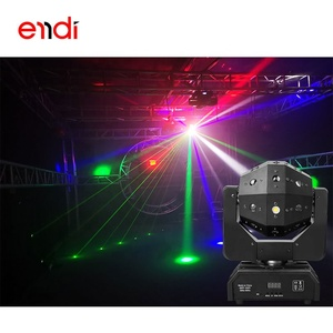 ENDI hot sell  24 hole laser beam stage light rgb show projector for disco dj night club and bars lightning