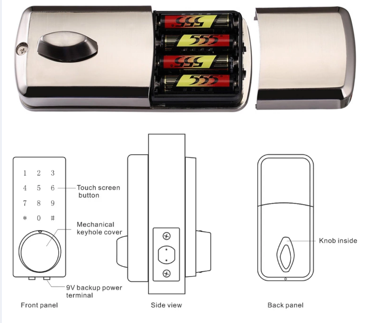 Wifi Mobile Phone Control Electronic Biometric Fingerprint