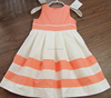 2016 Two color dress polyesrer cotton baby girl summer dress