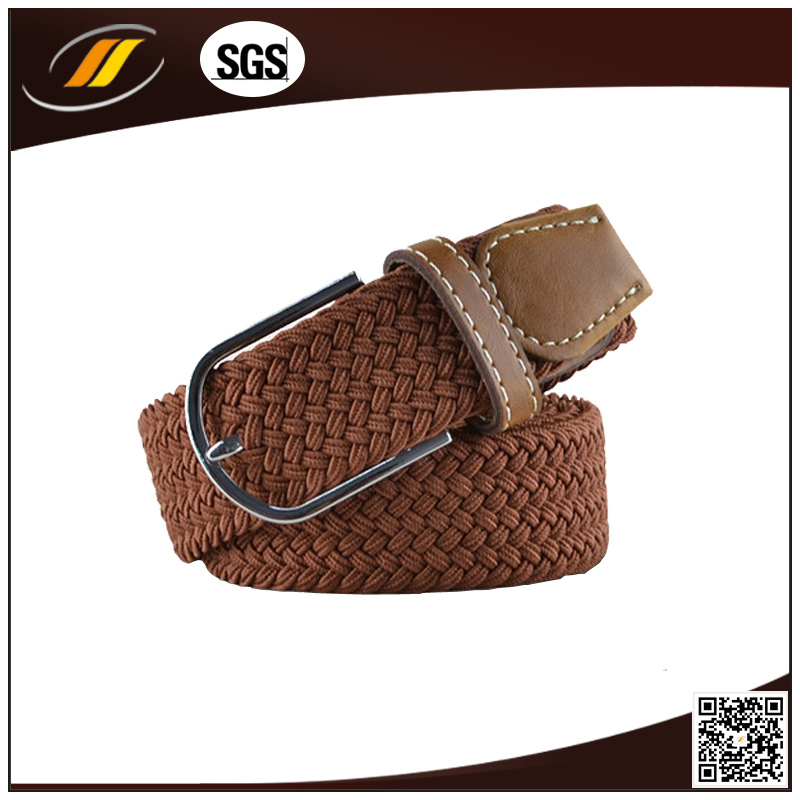 Hot Sale Western Brwon Braided Belt Fabric Woven Belts