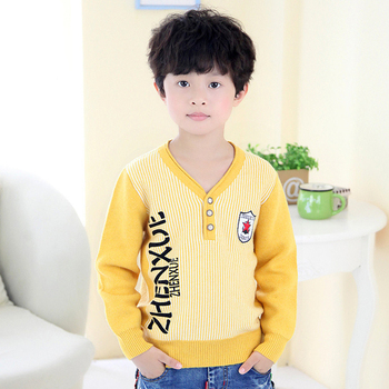 2017 new design plain wool knitted kids cardigan sweater