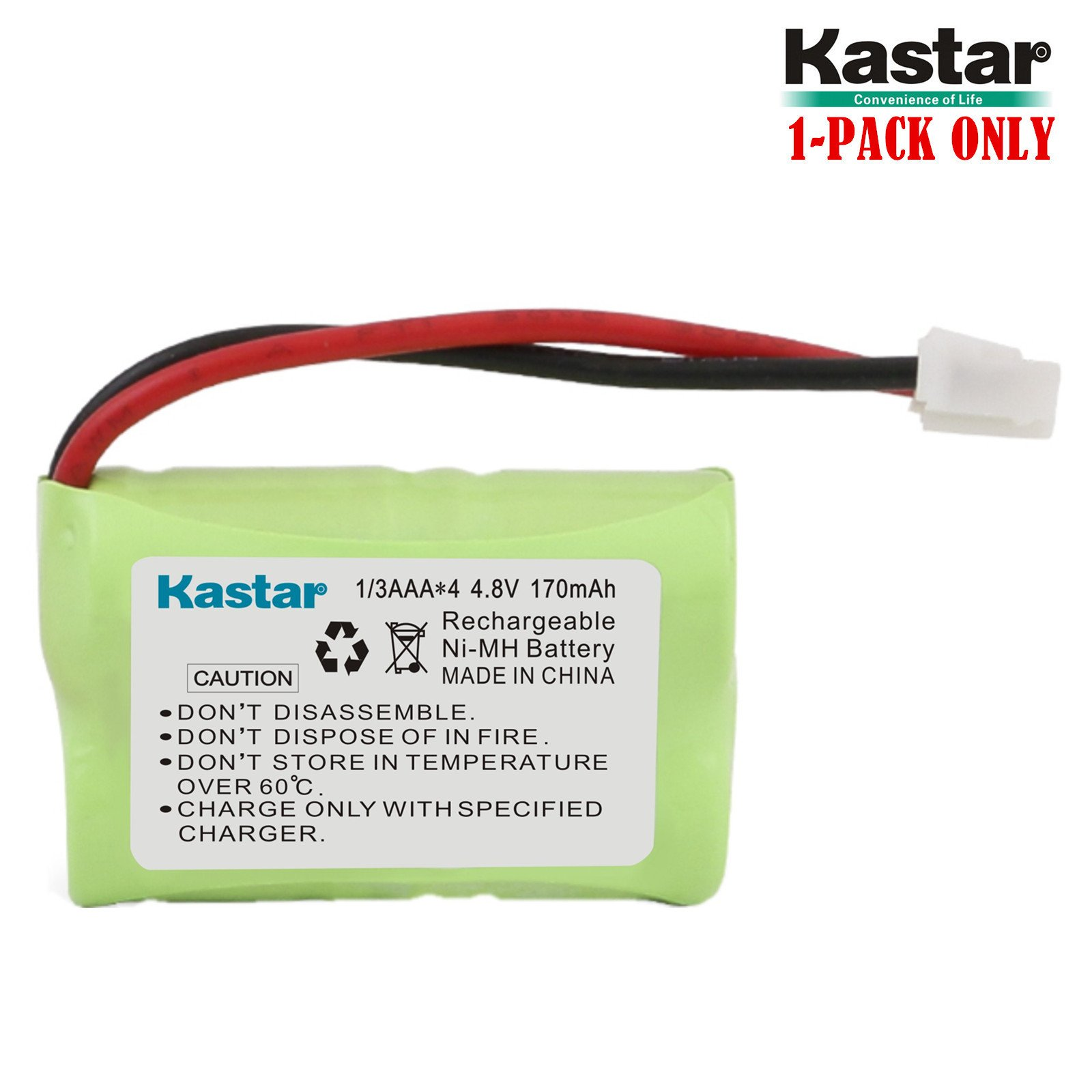 Kastar 170mAh Ni-MH Rechargeable Battery for SportDog FR200, SD-400, SD-800, SAC00-15724, PetSafe Yard and Park Remote Dog Trainer, PDT00-12470 RFA-417 PAC00-12159 FR-200P Collar Receiver plus Coaster