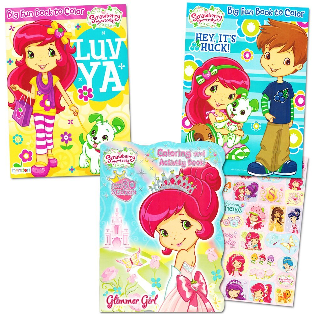 - Buy Strawberry Shortcake Coloring Book Super Set -- 3 Books, Over