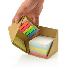 Eco Cube Sticky, Individuelles <span class=keywords><strong>Logo</strong></span> Druck Eco recycelt Haftnotizen Folding Memo Cube <span class=keywords><strong>mit</strong></span> memo pad