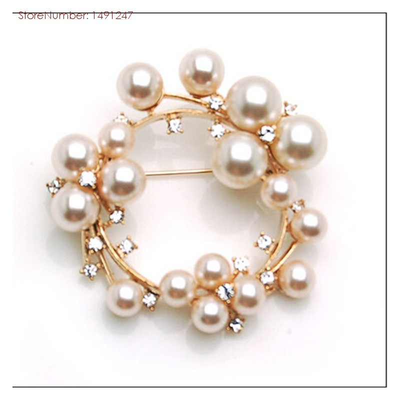 Top Quality Pearls Collar Brooches Pins Vintage Jewelry Accessories For Women