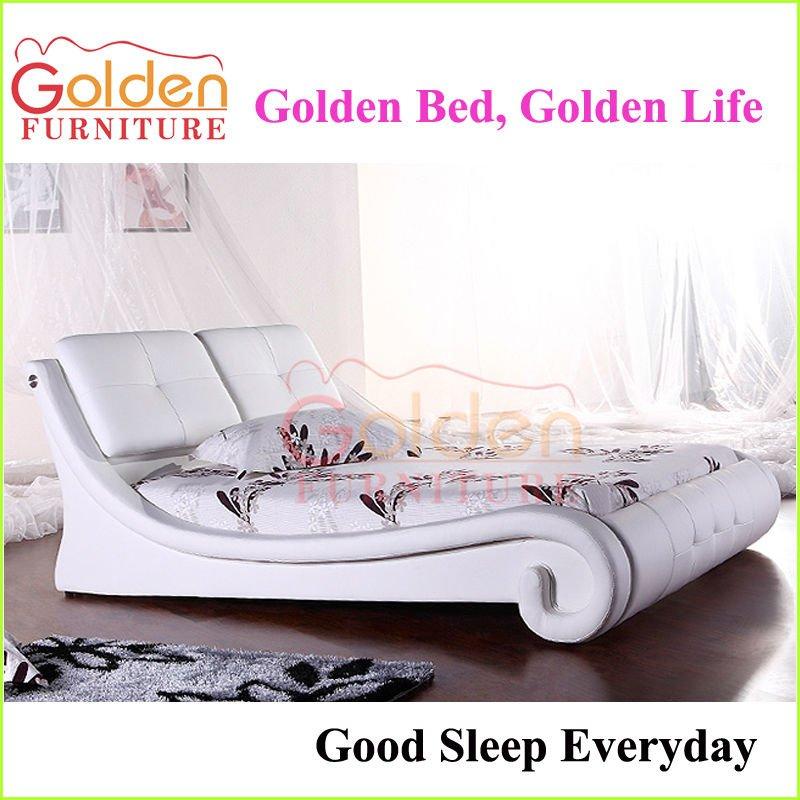 moderna unico in pelle bianca mobili camera da letto elementi essenziali-Lett...