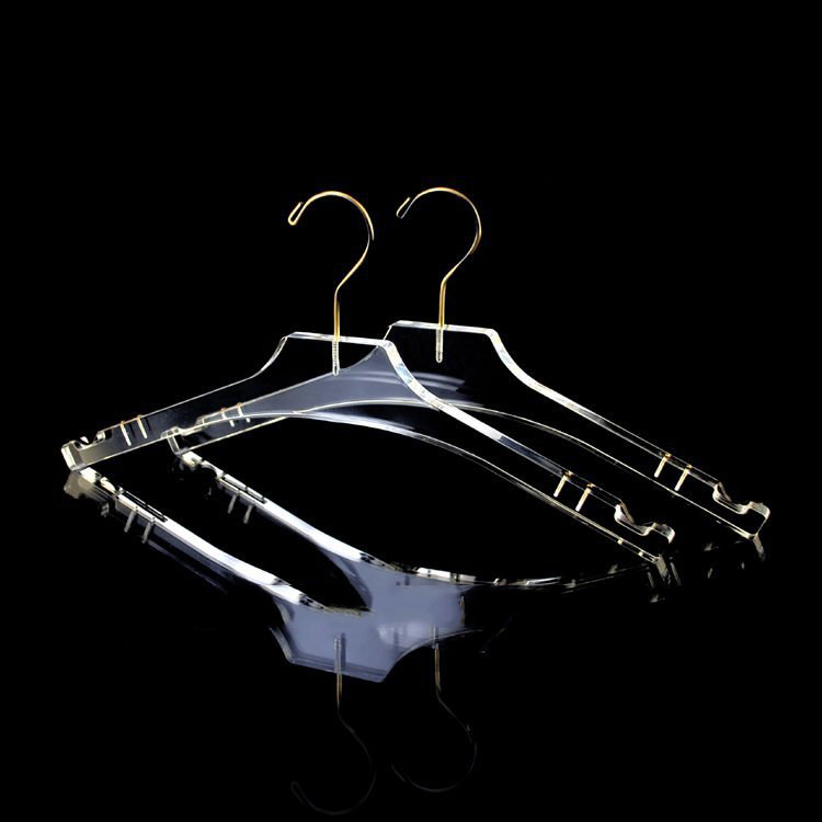 High Class Plastic Clothes Hanger Clear Acrylic Clothes Hanger