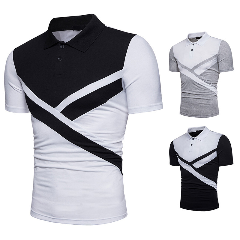 P139 2018 latest <strong>design</strong> three colors combination mens polo shirt