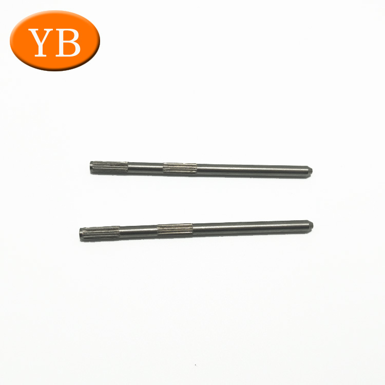 Dia 1-4mm Carbon Steel Straight Knurling Shaft