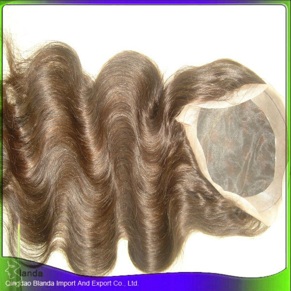 "30"" indian human hair virgin remy full lace wig"