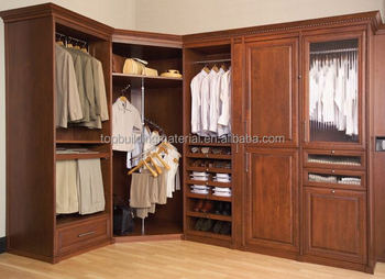 Foshan classical furniture U shaped wardrobe modular wooden wardrobe