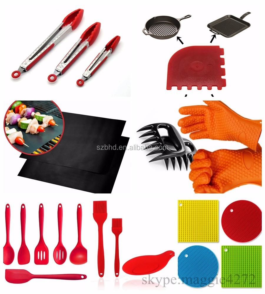 Amazon hot FDA multi color Heat Resistant silicone kitchen utensils,silicone Masterclass Premium Cookware in Cookware <strong>Sets</strong>
