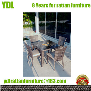 YDL Patio Rattan Outdoor Garden dining chair and tables outside furniture stores