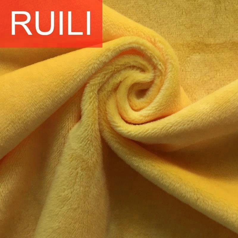 100 polyester high quality super soft crystal velboa plush toy fabric
