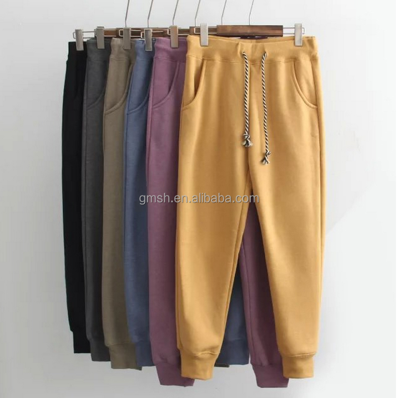 2017 custom China pants & trousers supplier good quality 6 colors woman fashion jogger pants