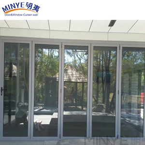 double glazed soundproof aluminum glass bifold/folding door/Interior contemporary bi folding doors