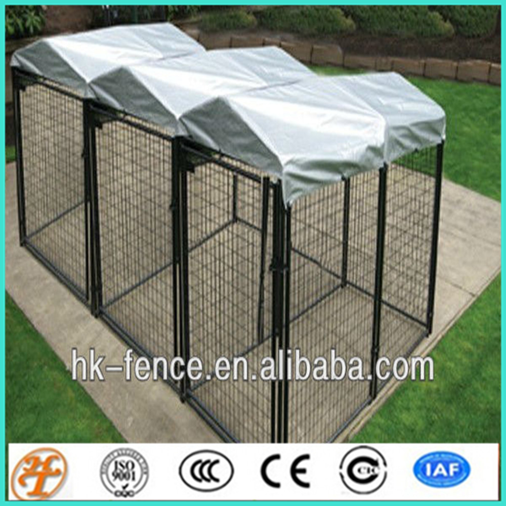5'x10'x6' galvanized big size double dog keeping kennels and runs