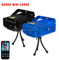 Rasha 150mW RG Mini Laser Projector,Stage Laser Light Party Min Laser Light With Remote Control For Xmas Holiday