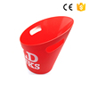 Customized Plastic wholesale commercial plastic ice bucket colorful beer ice bucket