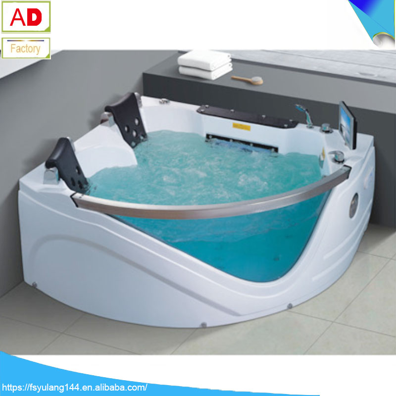 Bathtub With Seat Acrylic Hydro Massage Whirlpool Corner Mini ...