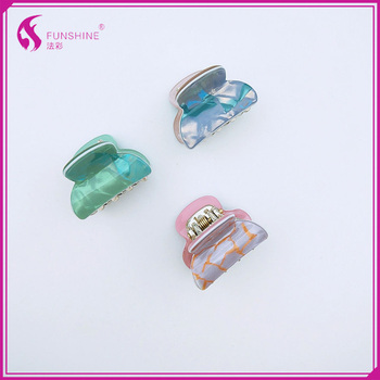 Brand Wholesale Women Mini Hair Clamp Beauty Acrylic Plastic Hairpin