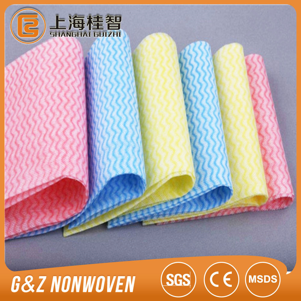 Customized biodegradable fashion eco-friendly convenient nonwoven household cleaning cloth