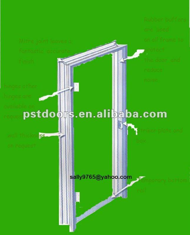 Knocked Down Packing Steel Door Frame,Double/single Rebate Frame Series,Door  Frame Guangzhou   Buy Decorative Door Frame,Knock Down Steel Door Frames,Timely  ...