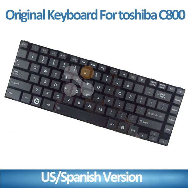 Laptop keyboard For TOSHIBA L800 L805 C800 L830 replacement notebook keyboard us layout