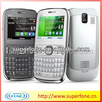 2.2inch Cheapest Slim Qwerty Keypad Mobile Phone (ASHA302)