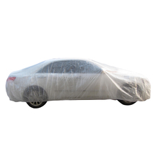 Plastic full body car cover indoor to protect from dust,rain and snow