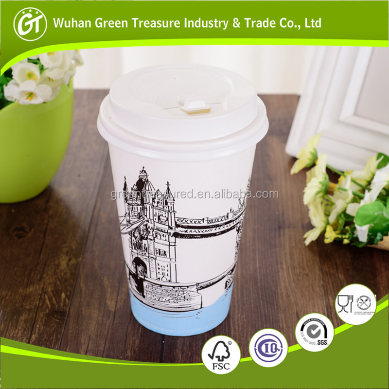 Delicious Coffee/Milk in Disposable Double PE Single Wall Paper Cups with High Quality