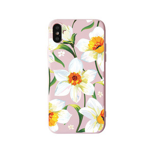Women flower frosted tpu phone case for iPhone 6 7 8 plus xs max