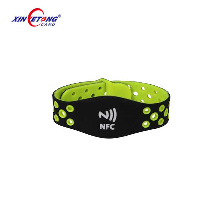 Pack of 2 125khz RFID writable T5577 rewritable Silicone Black Wristbands
