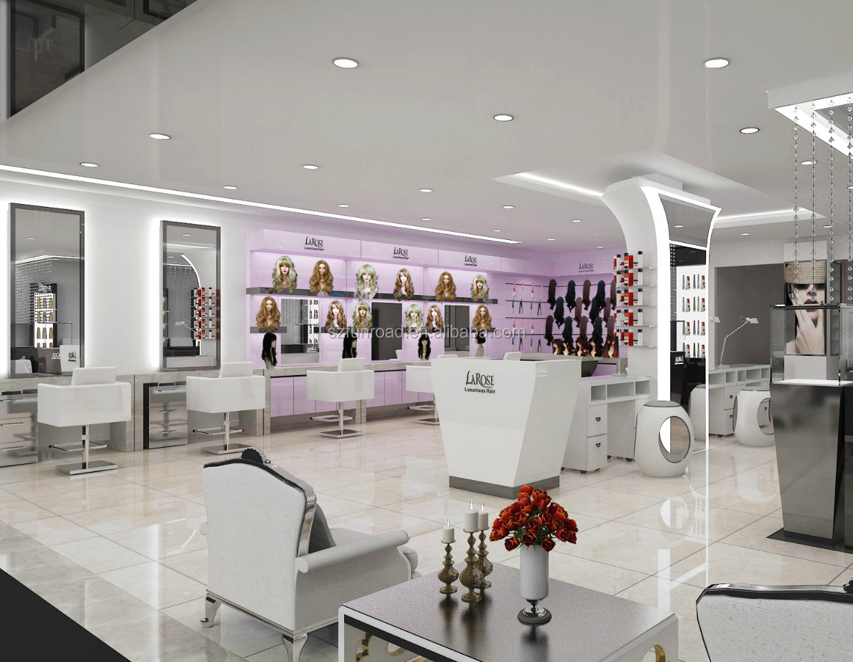 High End Hair Salon Shop Interior Design Display Furniture View Hair Salon Shop Interior Design Funroad Product Details From Shenzhen Carpentry Family Commercial Furniture Co Ltd On Alibaba Com