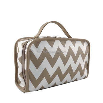 Chevron cosmetic bag