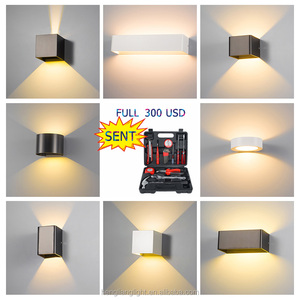 Waterproof IP65 Modern Nordic style Indoor lamp Living Room Porch Wall Lamps 6W LED Wall Light Outdoor