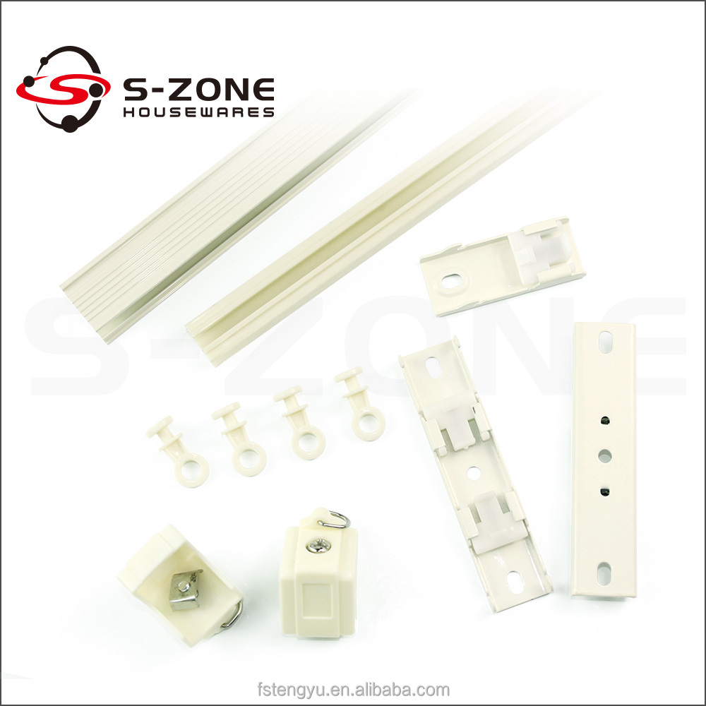 combined type ceiling mount shower curtain track and accessories curtains