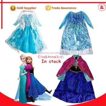 halloween princess frozen anna u0026 elsa fancy dress cosplay halloween elsa costume for kids  sc 1 st  Wholesale Alibaba & Halloween Princess Frozen Anna u0026 Elsa Fancy Dress Cosplay Halloween ...