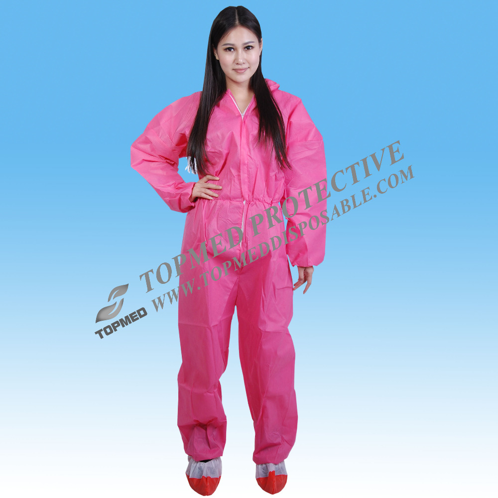 pp nonwoven breathable painting overalls,coverall disposable, hooded coveralls