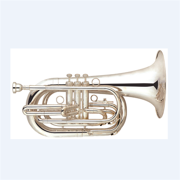 hot sale to thailand Bb tone Silver plated Marching baritone