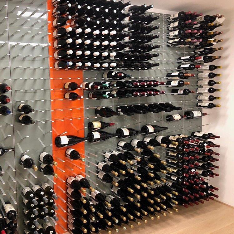 Ceiling Wall Mounted Metal Wine Rack