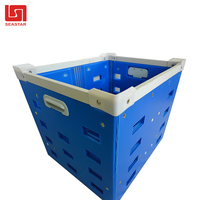Customized Corrugated Plastic Fruit Box/ PP Hollow White Corflute Packaging Containers