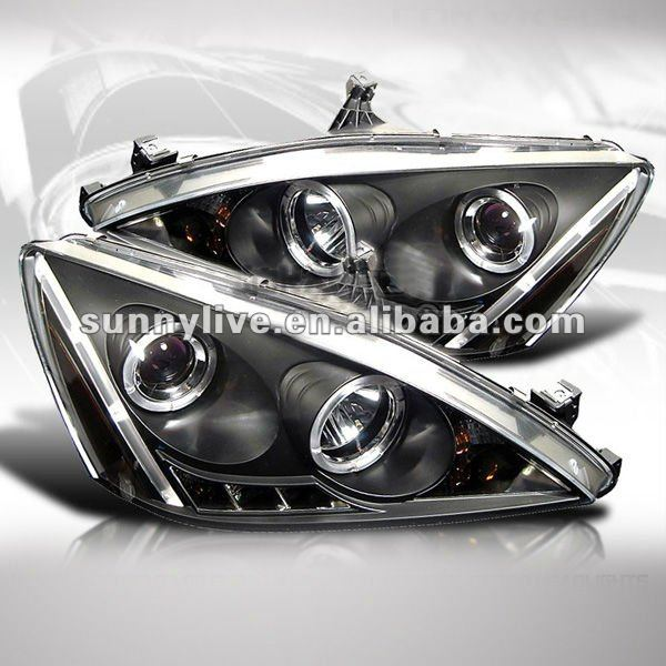 For Honda Accord Led Head Lamp Angel Eyes V2 Type 2005 To 2007 ...